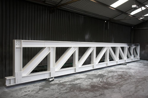 Intumescent Painted Structural Steel Truss