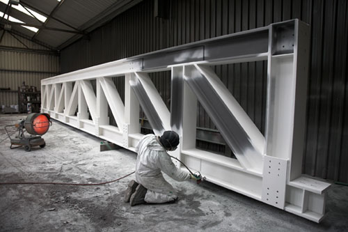 Painting Structural Steel Truss – firetex intumescent paint