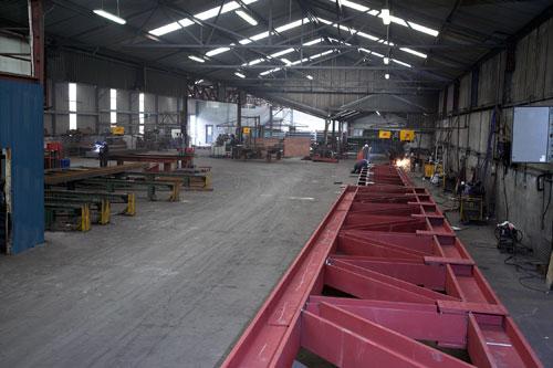Structural Steel Truss_phosphate primer