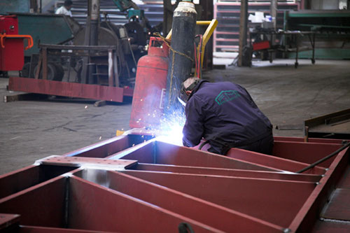 Welding Structural Steel Truss